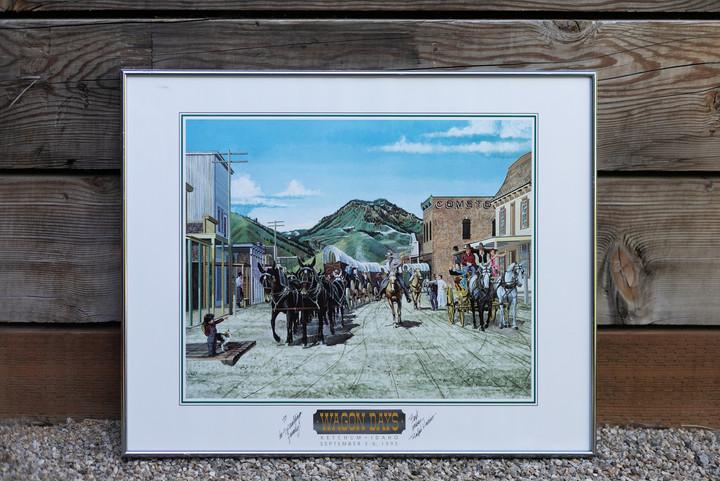 1993 Wagon Days Framed Poster