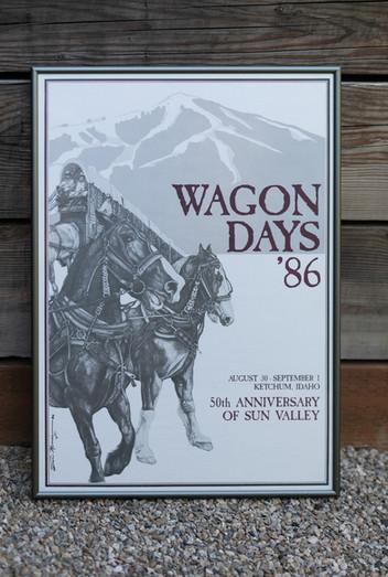 1986 Wagon Days Framed Poster