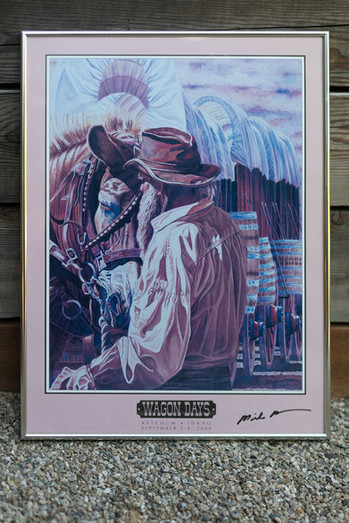 2000 Wagon Days Framed Poster