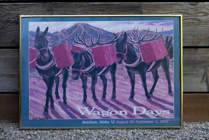 2002 Wagon Days Framed Poster