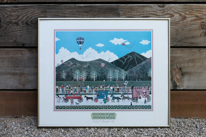1996 Wagon Days Framed Poster