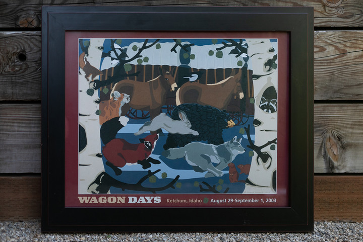 2003 Wagon Days Framed Poster