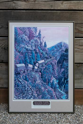 1998 Wagon Days Framed Poster