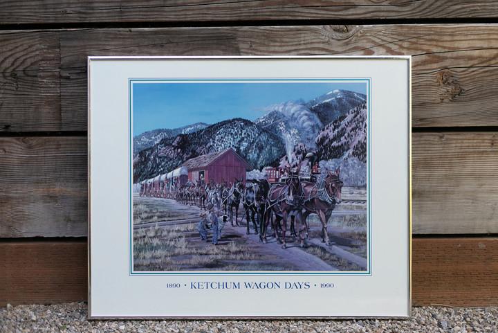 1990 Wagon Days Framed Poster