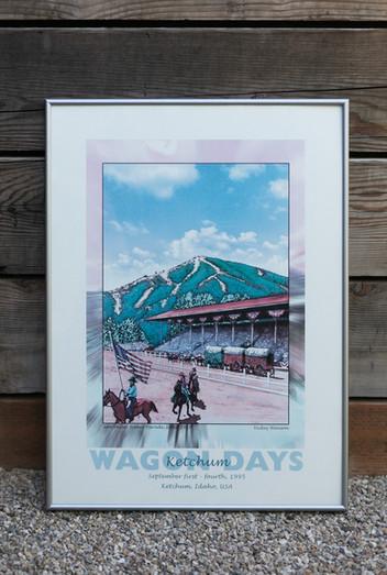 1995 Wagon Days Framed Poster