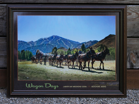 WAGON DAYS FRAMED POSTERS