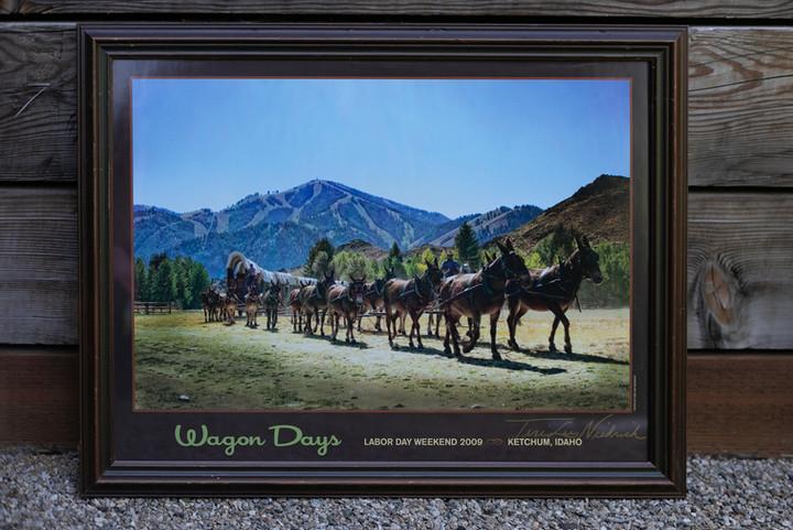 2009 Wagon Days Framed Poster signed