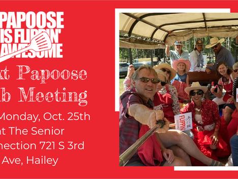 Next Meeting Oct 25 - Lots of Fun Stuff - Join Us!