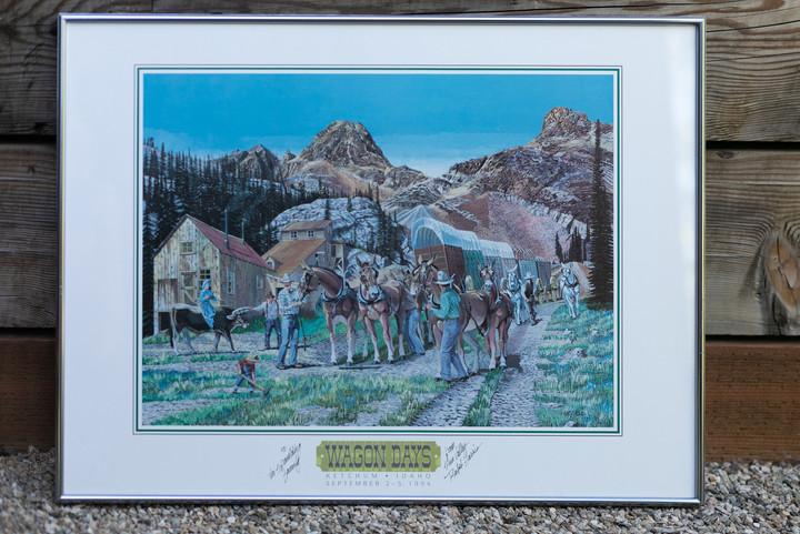 1994 Wagon Days Framed Poster
