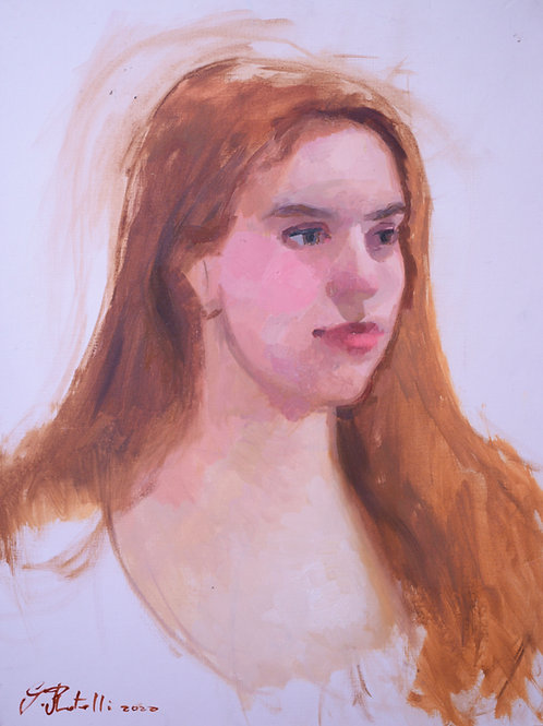 Ethel oil sketch