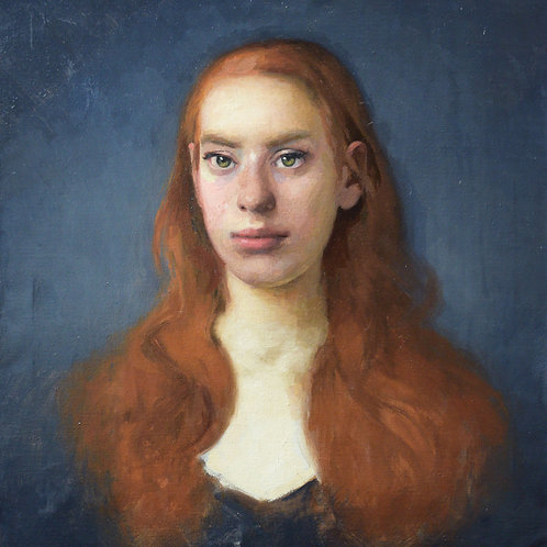 Semplicemente Ethel oil on canvas 51 x46 cm