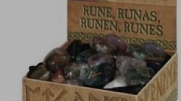 Natural Blood Runes Stone  Lo Scarabeo