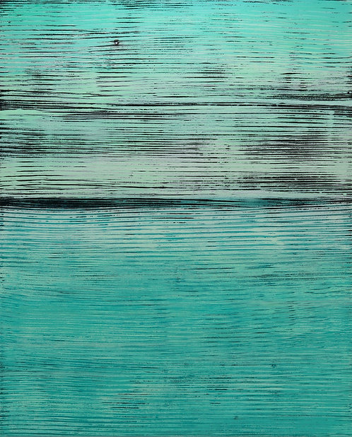 "abstract painting by artist Mark S Thomas ""Aqua"""