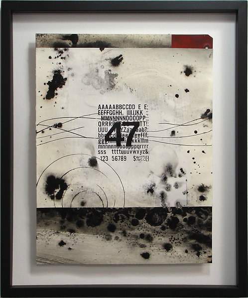 """abstract painting by artist Mark S Thomas """"Forty Seven Miles"""""""
