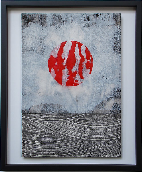 "abstract painting by artist Mark S Thomas ""Zen Garden"""