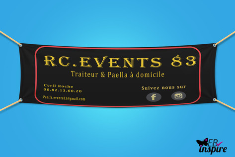 Banderolle Bache eco RC Events