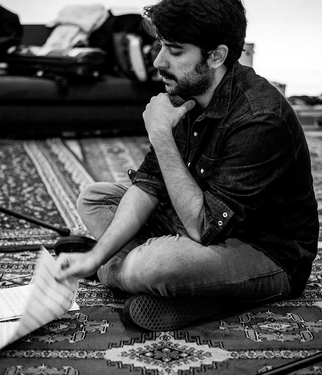 Luis Lopez Pinto recording session