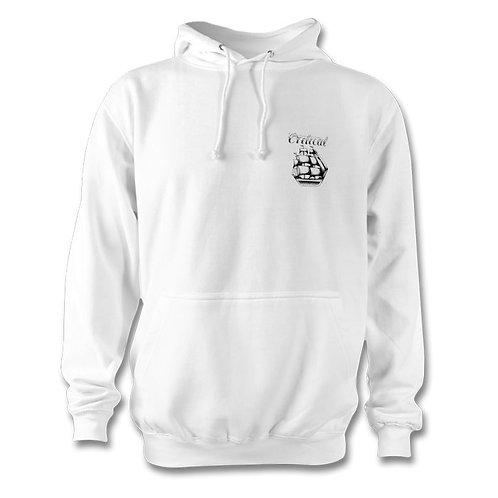 White Small logo Hoodie