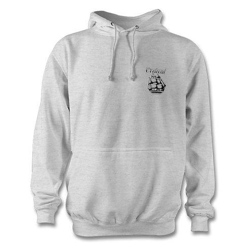 Grey Small Logo Hoodie