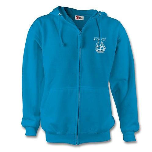 Light Blue Zip Hoodie