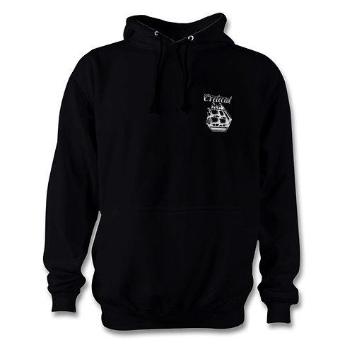 Black Small logo Hoodie
