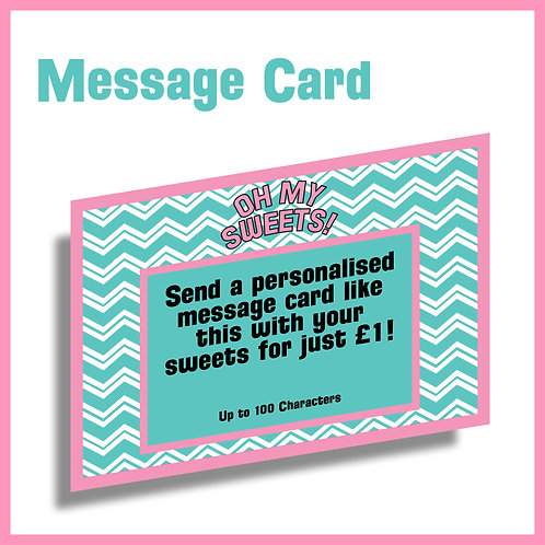 Personalised Message Card