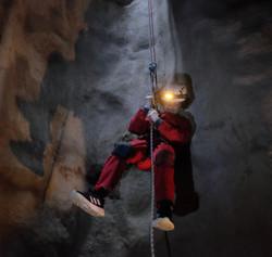 Cave abseil