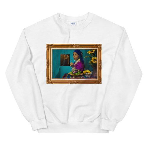 """""""nina con el arete de maíz"""" crewneck sweatshirt"""