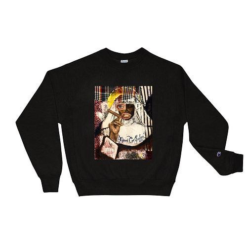 """only god can judge me"" Champion sweatshirt"