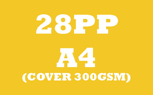 28PP A4 Cover 300GSM, Inner 130GSM Gloss OR Matt