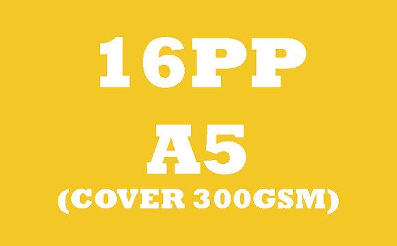 16PP A5 Cover 300GSM, Inner 130GSM Gloss OR Matt