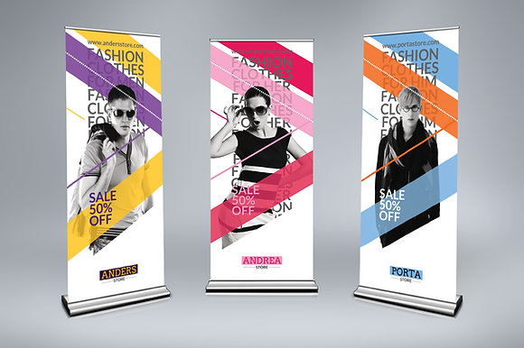 Roll Up Banner - 850 x 2000mm