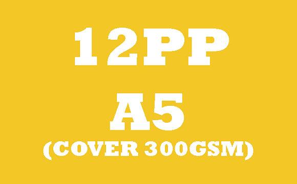 12PP A5 Cover 300GSM, Inner 130GSM Gloss OR Matt