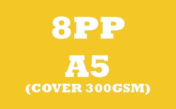 8PP A5 Cover 300GSM, Inner 130GSM Gloss OR Matt