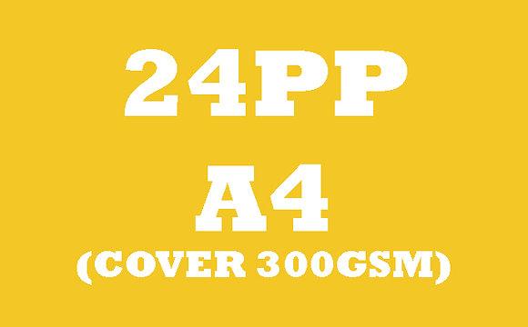 24PP A4 Cover 300GSM, Inner 130GSM Gloss OR Matt