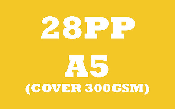 28PP A5 Cover 300GSM, Inner 130GSM Gloss OR Matt