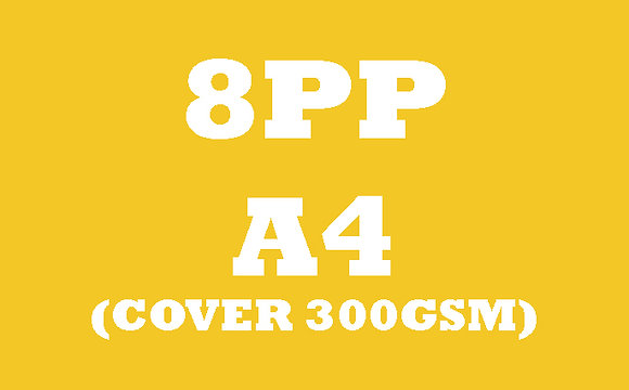 8PP A4 Cover 300GSM, Inner 130GSM Gloss OR Matt