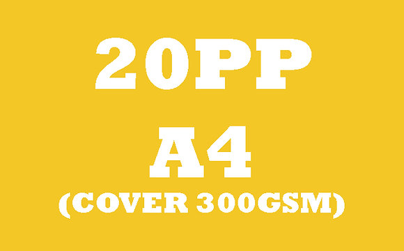 20PP A4 Cover 300GSM, Inner 130GSM Gloss OR Matt