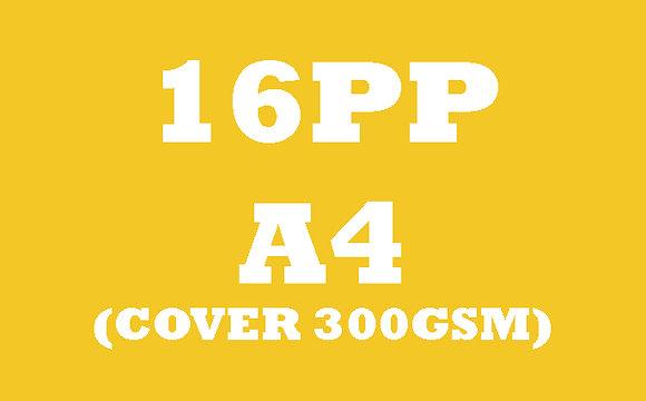 16PP A4 Cover 300GSM, Inner 130GSM Gloss OR Matt