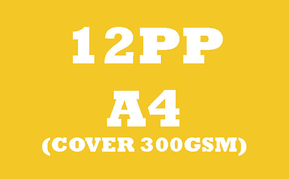 12PP A4 Cover 300GSM, Inner 130GSM Gloss OR Matt