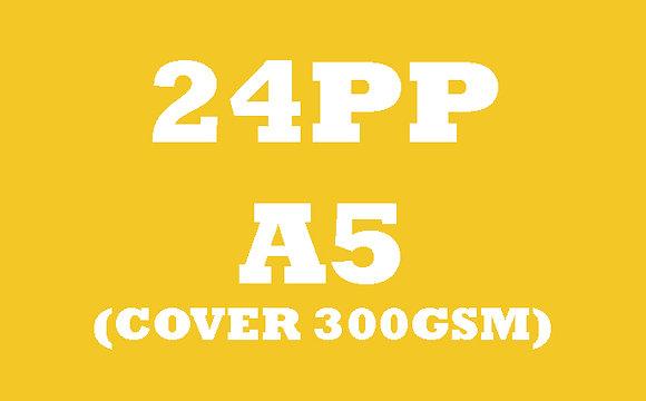 24PP A5 Cover 300GSM, Inner 130GSM Gloss OR Matt