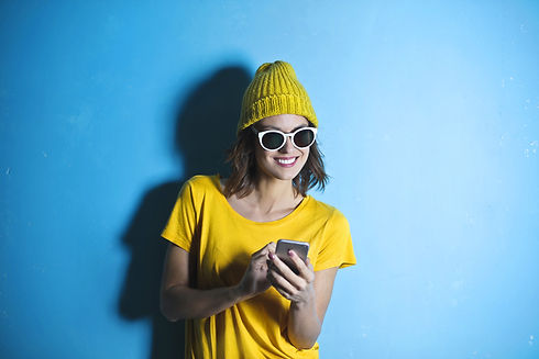 woman-in-yellow-crew-neck-t-shirt-while-