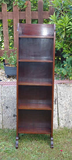 SMALL VINTAGE OPEN FRONTED BOOKCASE
