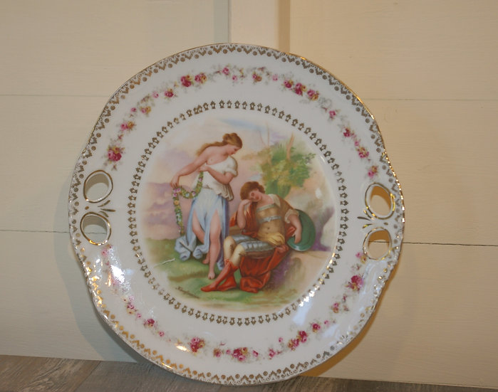 PORCELAIN DOUBLE HANDLE CAKE PLATE KAUFMANN