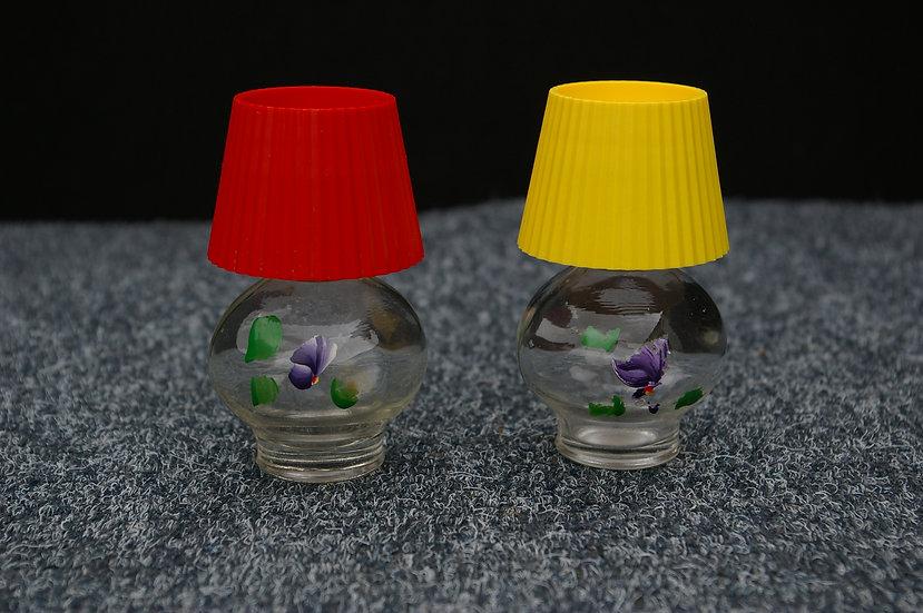 70,S LAMPSHADE EMPTY PERFUME BOTTLES X 2
