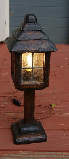VINTAGE WOODEN PUB LIGHT