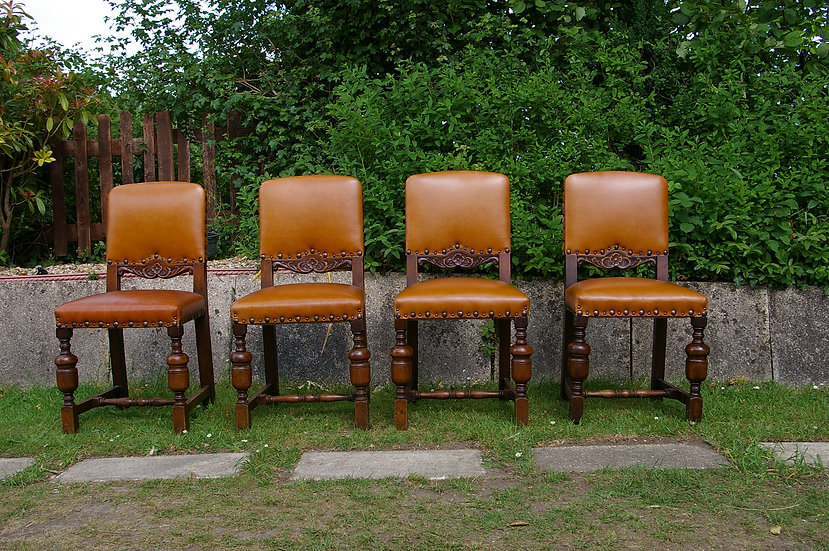 4 1930,S DINING COURT STYLE CHAIRS