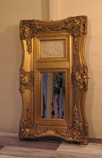 FRAMED CHERUBS AND MIRROR