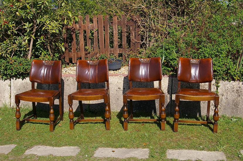 4 ANTIQUE DINING CHAIRS