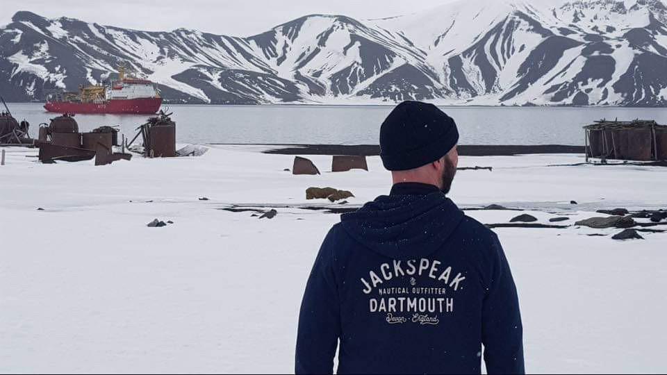 Tristan Mitchell on Deception Island, Antarctica